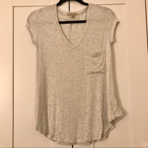 Anthropologie Bordeaux Tee with Pocket